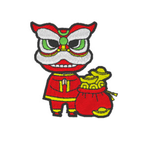 Chinese Lion Dance Act 4 ( Hoop Size : 10×10 cm.)