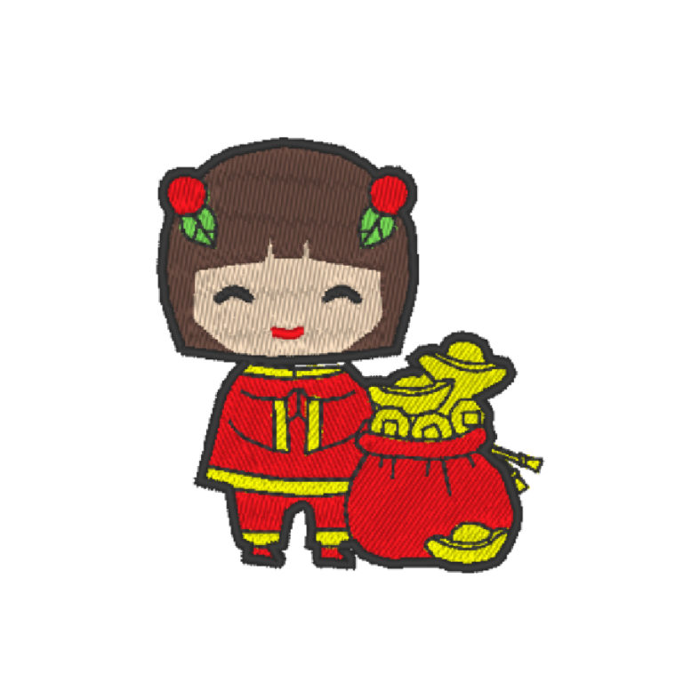 Chinese Lion Dance Act 5 ( Hoop Size : 10×10 cm )