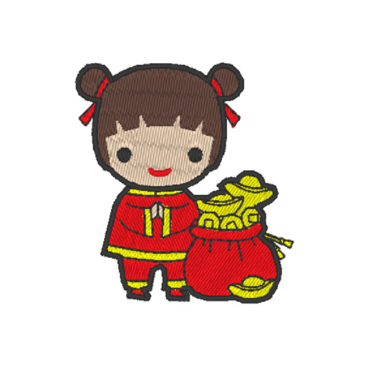 Chinese Lion Dance Act 6 ( Hoop Size : 10×10 cm. )