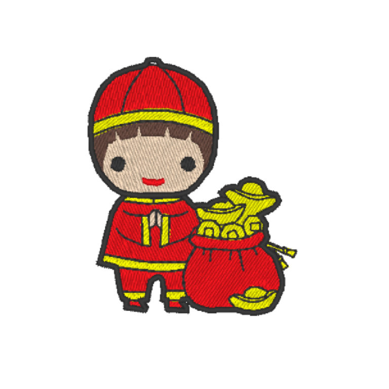 Chinese Lion Dance Act 7 ( Hoop Size : 10×10 cm. )