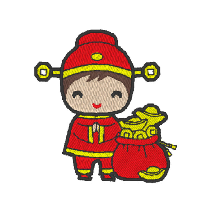 Chinese Lion Dance Act 8 (Hoop Size : 10×10 cm. )