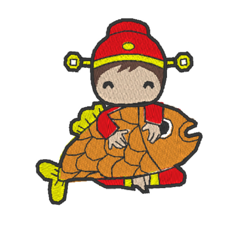 Chinese Lion Dance Act 10 ( Hoop Size : 10×10 cm.)