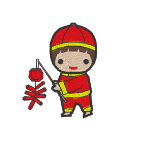 Chinese Lion Dance Act 11 (Hoop Size 10×10 cm.)