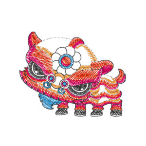 Chinese Lion Dance Act 23 (Hoop Size : 10×10 cm)
