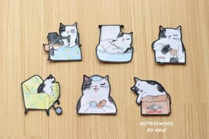 Cat Pocket Collection ( 6 items) ( Hoop Size 10×10 cm )