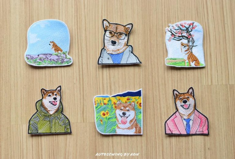 Shiba Pocket Collection( 6 items ) ( Hoop Size 10×10 cm )