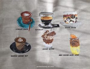 Coffee Collection ( 6 items) (Hoop Size 10×10 cm)