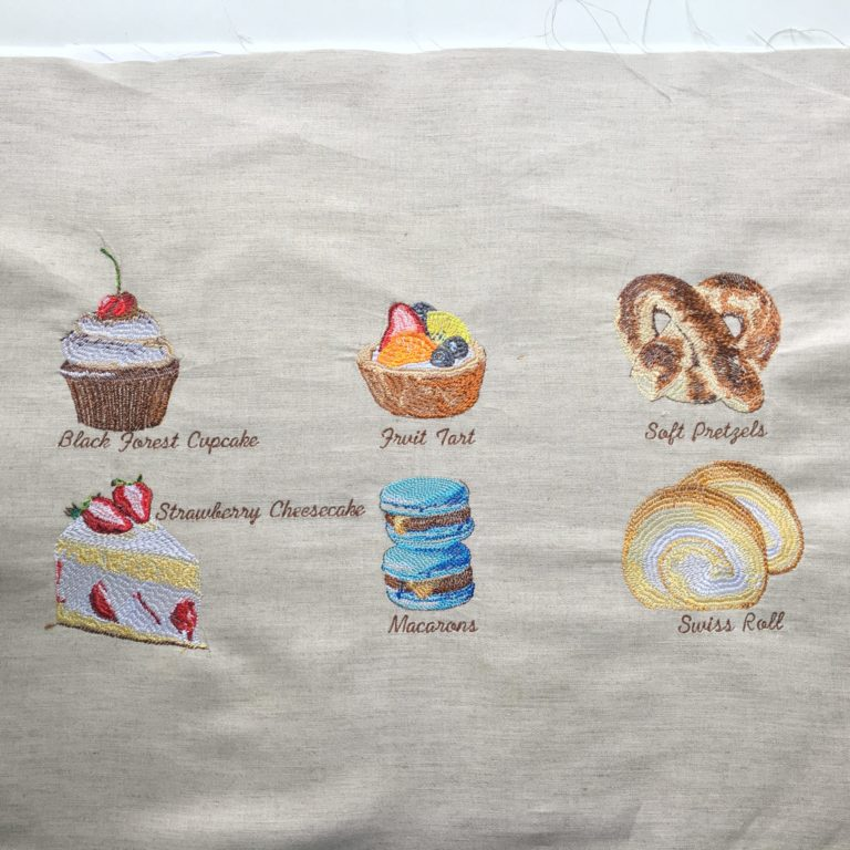 Bakery Collections #1(Hoop Size 10×10 cm) Package 6 Item