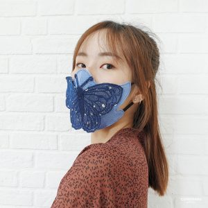 Butterfly 3D Face Mask Pattern Embroidery (FREE DOWNLOAD)